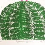 Joanna Padfield Gymnocalycium Linocut Print Wychwood Art 6