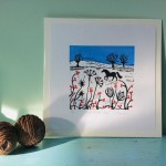Joanna Padfield Horse in the snow Linocut Print 6