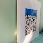 Joanna Padfield Horse in the snow Linocut Print 7