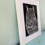 Joanna Padfield Hugo Linocut Print 2
