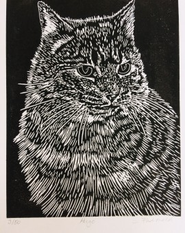 Joanna Padfield Hugo Linocut Print