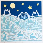 Joanna Padfield Night Sky Linocut Print Wychwood Art