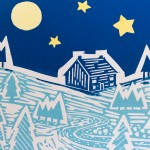 Joanna Padfield Night Sky Linocut Print Wychwood Art 4