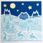 Joanna Padfield Night Sky Linocut Print Wychwood Art