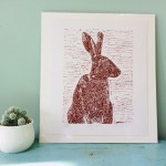 Joanna Padfield Sitting Hare Linocut Print 2