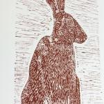 Joanna Padfield Sitting Hare Linocut Print 4