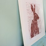 Joanna Padfield Sitting Hare Linocut Print 5