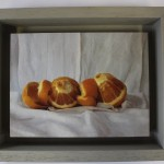 Kate Verrion, Two Seville Oranges, Original Still Life Painting, Contemporary Food Art 2