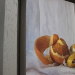 Kate Verrion, Two Seville Oranges and A Lemon, Original Still Life Painting, Contemporary Food Art 10