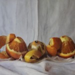 Kate Verrion, Two Seville Oranges and A Lemon, Original Still Life Painting, Contemporary Food Art 5