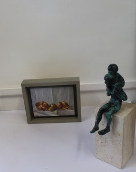 Kate Verrion, Two Seville Oranges and A Lemon, Original Still Life Painting, Contemporary Food Art 6