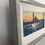 gabriellemoulding,venicesunrise,contemporarylandscape painting, with frame