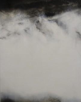3. Annamarie Dzendrowskyj_Dissolve - Iceland II_56 x 28cm_oil on Australian Polyester