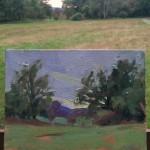 Benedict Flanagan Abinger Roughs Sunset Plein air