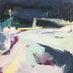 Catherine Warren Night Light Original Abstract Painting Wychwood Art