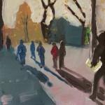 Eleanor Woolley | Winter shadows | Landscape | Portrait | Expressionistic