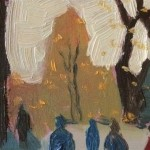 Eleanor Woolley | Winter shadows | Landscape | Portrait | Expressionistic| Section 1
