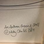 Nicky Chubb, An Autumn Evening Stroll, Original Painting, Lollipop Tree Art, Pop Art 2