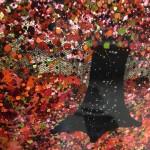 Nicky Chubb, An Autumn Evening Stroll, Original Painting, Lollipop Tree Art, Pop Art 3