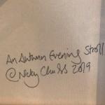 Nicky Chubb, Autumn Evening Stroll, Original Painting.JPG 5