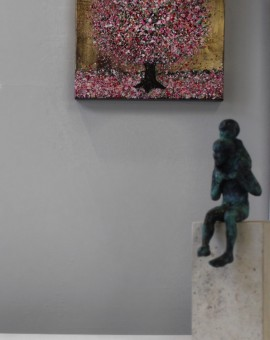 Nicky Chubb, Dancing Blossom Tree, Original Painting, Landscape Art