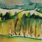 Rosie Phipps, The Cotswolds, Original Watercolour Painting, Landscape Painting 5