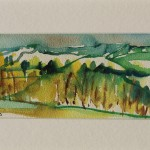 Rosie Phipps, The Cotswolds, Original Watercolour Painting, Landscape Painting 6