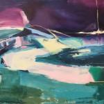 catherine warren purple sky wychwood art original abstract painting