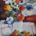13 Flowers in a pitcher 26×24
