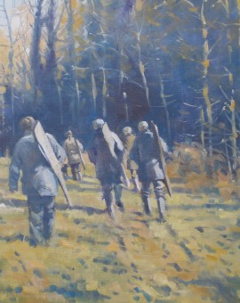 Allbrook Colin Below the wood Rural Art