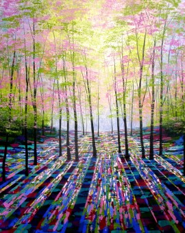 Amanda Horvath A Moment in Time Landscape Painting, Impressionist Art, Affordable Contemporary Painting