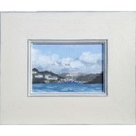 Approaching Fowey Fiona Carver Original Contemporary Oil Painting Wychwood Art