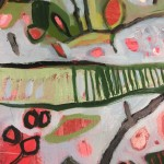 Elaine Kazimierczuk, Apple Blossoms, Forget-Me-Nots and Coltsfoot, Bright Art, Abstract Landscape Paintings 10