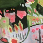 Elaine Kazimierczuk, Apple Blossoms, Forget-Me-Nots and Coltsfoot, Bright Art, Abstract Landscape Paintings 8