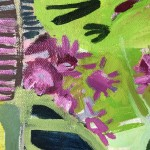 Elaine Kazimierczuk Eremurus, Pink Merton Beds, Wychwood Art close-up 1