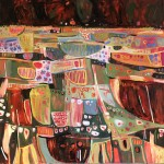 Elaine Kazimierczuk, Tuscany Meadow, Bright Art, Abstract Landscape Paintings
