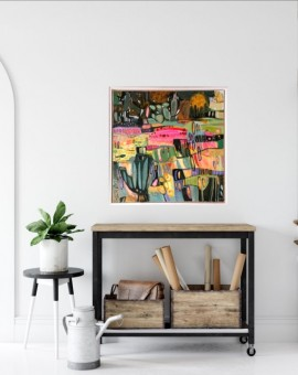 Elainr Kazimierczuk, Fun in the Flower Bed, Abstract Flower Art 13