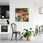 Elainr Kazimierczuk, Fun in the Flower Bed, Abstract Flower Art 14