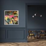 Elainr Kazimierczuk, Fun in the Flower Bed, Abstract Flower Art 16