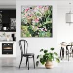 Elainr Kazimierczuk, Sweet Briar, Abstract Flower Art