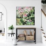 Elainr Kazimierczuk, Sweet Briar, Abstract Flower Art 3