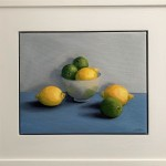 Jonquil Williamon Framed Lemons and Limes for use in situ Wychwood Art