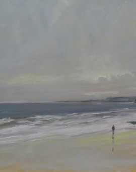 MalcolmLudvigsen.Scarborough.Oct7.OriginalSeascapePainting.Wychwoodart