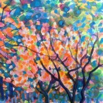 Maples Original Landscape by Rosemary Farrer detail 3