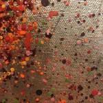 Nicky Chubb, Autumn Leaves Dancing, Red Art, Autumnal Art, Tree Art, Warm Art 5