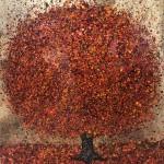 Nicky Chubb, Autumn Leaves Dancing, Red Art, Autumnal Art, Tree Art, Warm Art 6