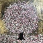 Nicky Chubb, Gentle Spring Blossom, Pink Art, Spring Art, Tree Art, Warm Art