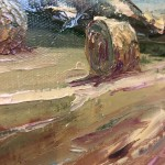 Rupert Aker, Harvest Bales, Original Oil Painting, Textured Paintings, Affordable Art 11