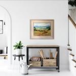 Rupert Aker, Harvest Bales, Original Oil Painting, Textured Paintings, Affordable Art 3