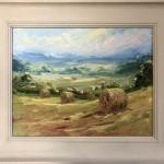 Rupert Aker, Harvest Bales, Original Oil Painting, Textured Paintings, Affordable Art 5